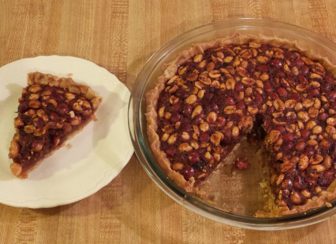 Virginia peanut pie is a traditional Southern pie.