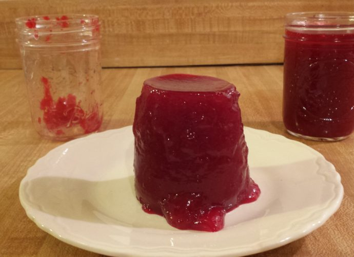 Jellied cranberry sauce without high fructose corn syrup
